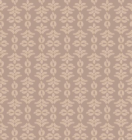 Floral tile pattern. Brocade retro ornament. Flourish leaves backdrop vector