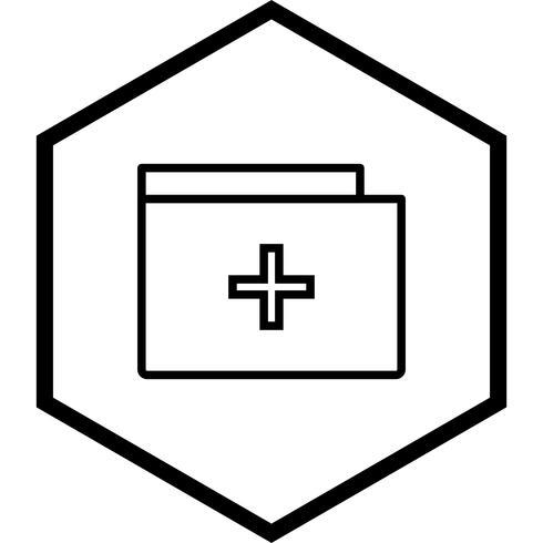 Design de ícone de pasta médica vetor