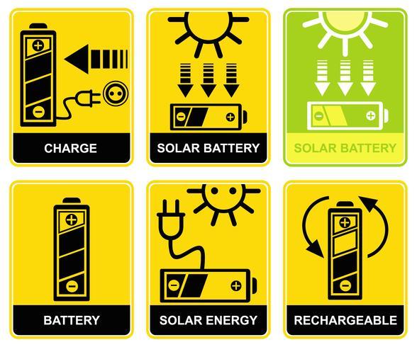 Bateria solar, carga, recarga