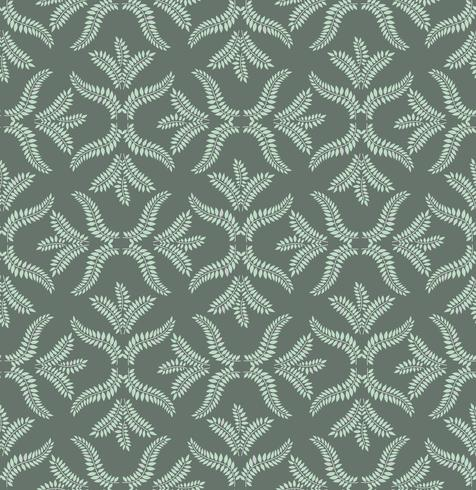 Floral seamless pattern. Brocade retro ornament. Flourish leaves backdrop vector