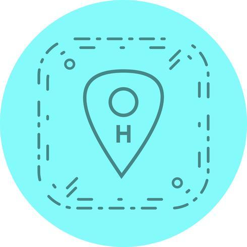 Ziekenhuis Locatie Icon Design vector