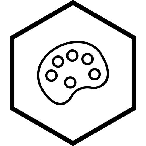 Kleur Pallete pictogram ontwerp vector