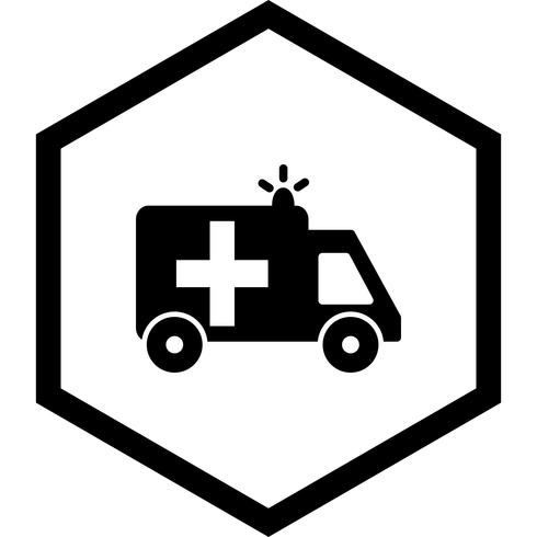 Ambulancia Icon Design vector