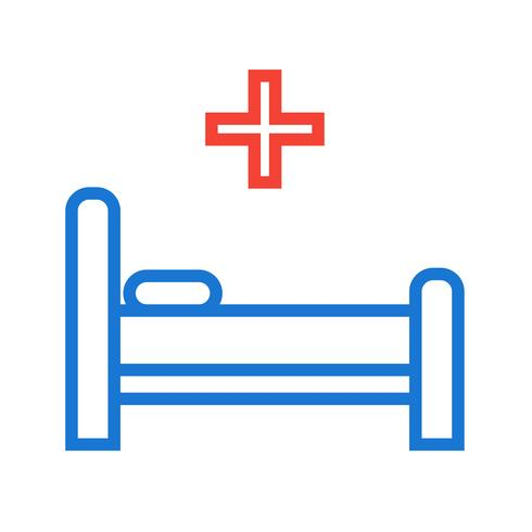 Bed pictogram ontwerp vector