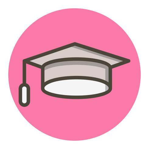 Graduation Cap pictogram ontwerp vector