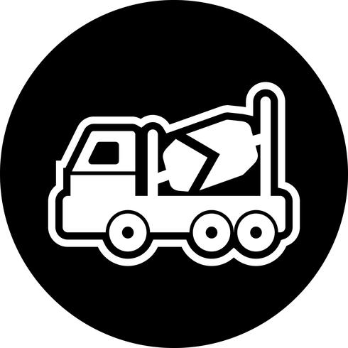 Concrete Mixer Icon Design