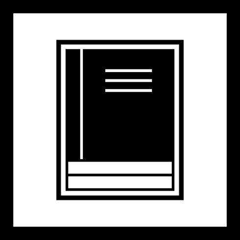 Design de ícone de livros vetor