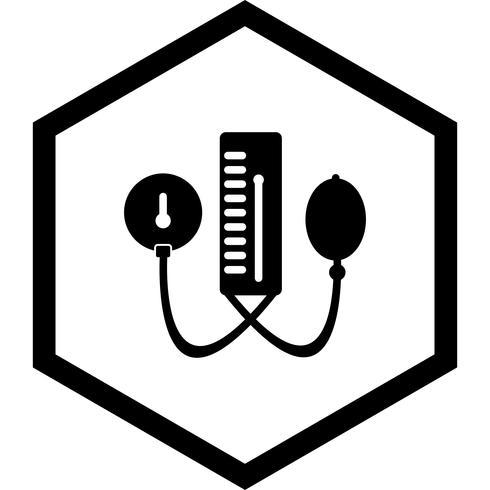 Projeto do ícone do aparato de BP vetor