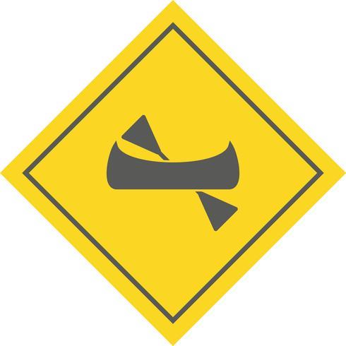 Design de ícone de canoa