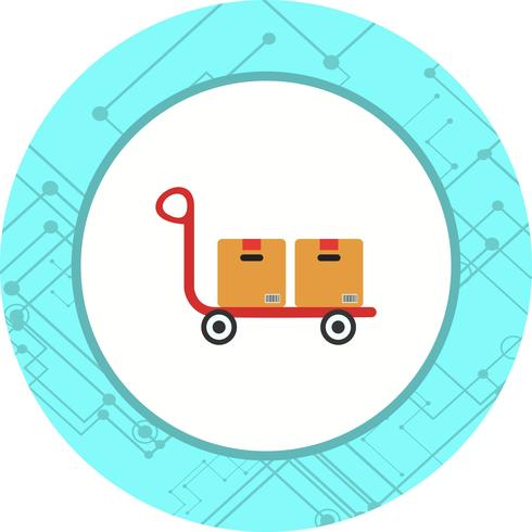 trolley icon design vektor