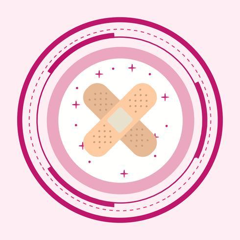 projeto de ícone de band-aid vetor