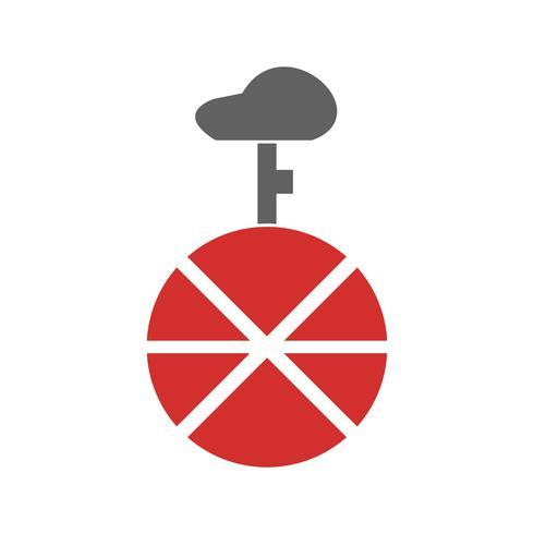 Design d'icône de monocycle vecteur