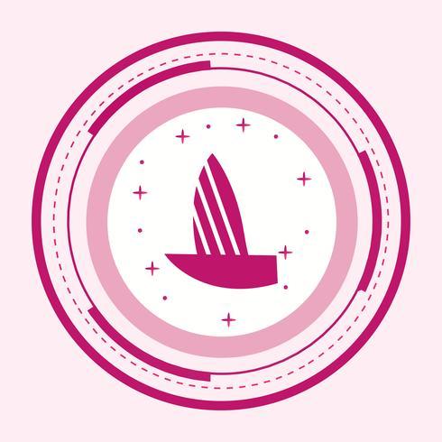 Jacht pictogram ontwerp