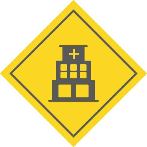 Projeto do ícone do hospital vetor