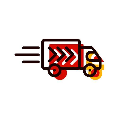 Design de ícone de caminhão de entrega vetor