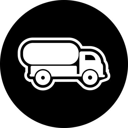 Design de ícone de caminhão tanque vetor