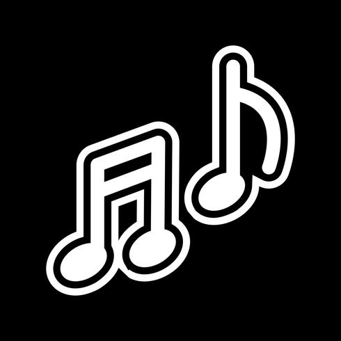 Diseño de icono de la música