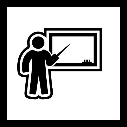 Conception d'icônes d'enseignement vecteur
