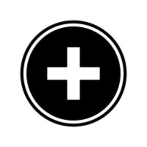 Diseño de icono de signo médico vector