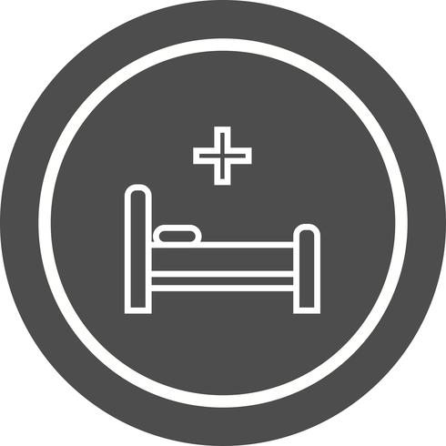 Diseño de icono de cama vector