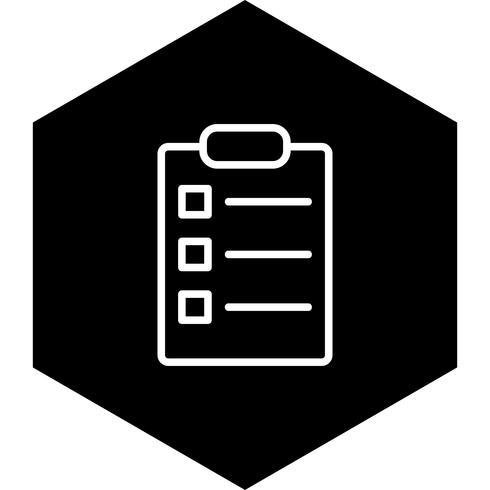 Diseño de lista de iconos vector