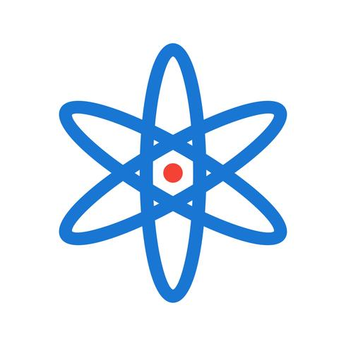 Atom Icon Design vector