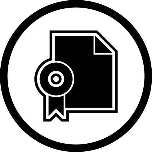 Diplôme Icône Design vecteur