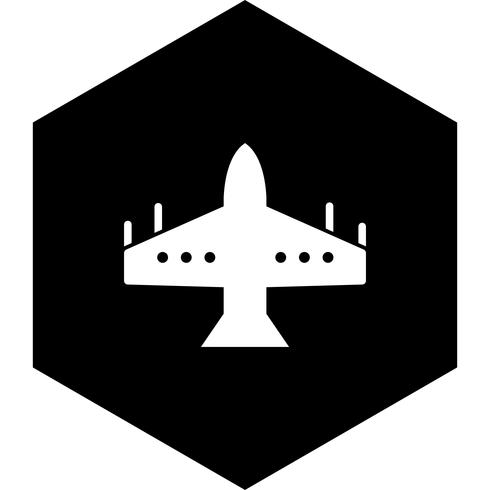 Fighter Jet Icon Design vector