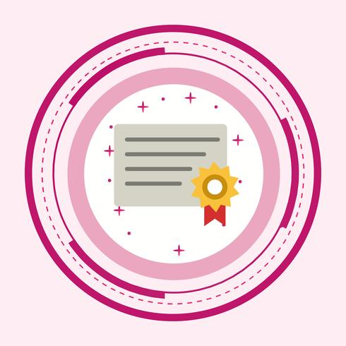 Design de ícone de certificado