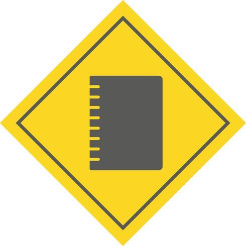 Design d'icône cahier à spirale vecteur