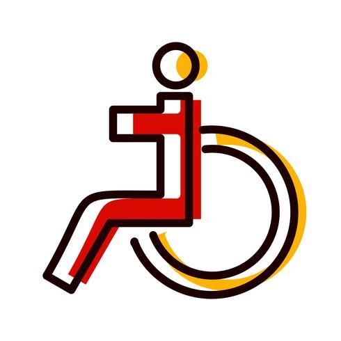 Handikappad Icon Design