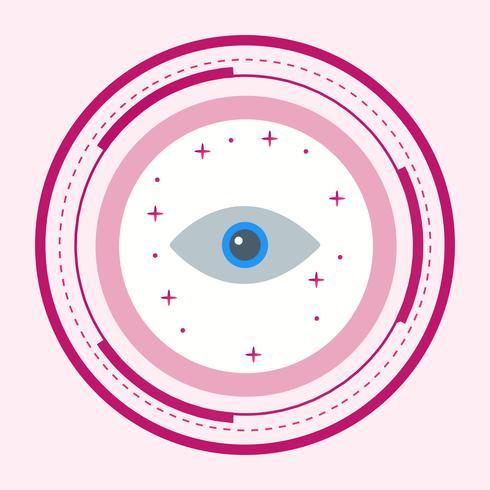 Diseño de icono de ojo