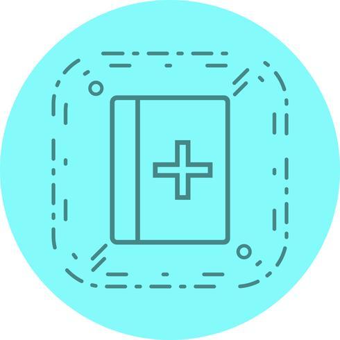 medicinsk bok ikon design