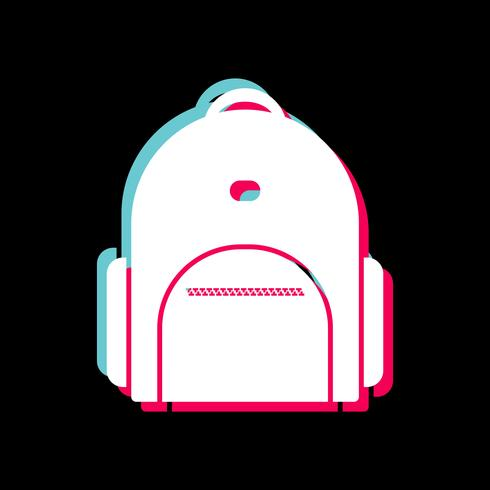 Bagpack Icon Design vector