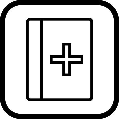Disegno dell'icona del libro medico