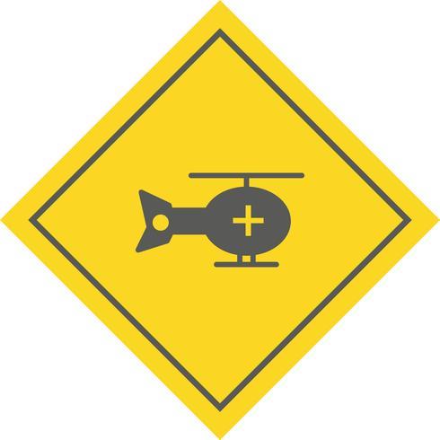 Projeto de ícone de helicóptero