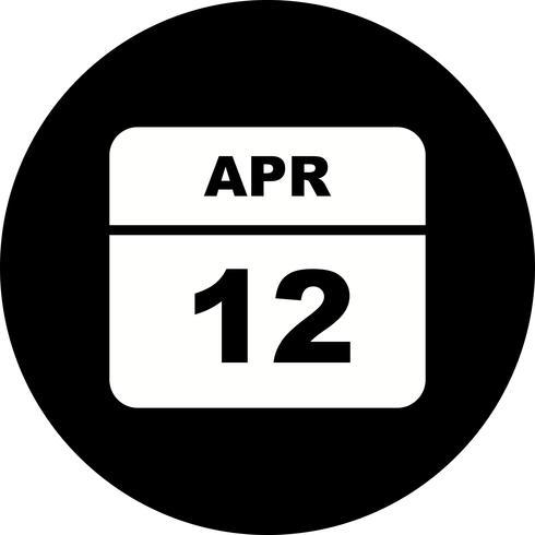 Datum des 12. Aprils an einem Tageskalender