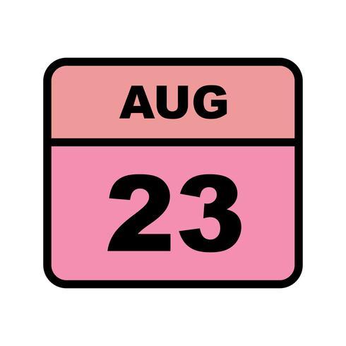 23 augusti Datum på en dagskalender