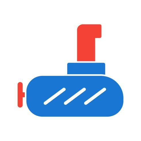 Diseño de iconos submarinos vector