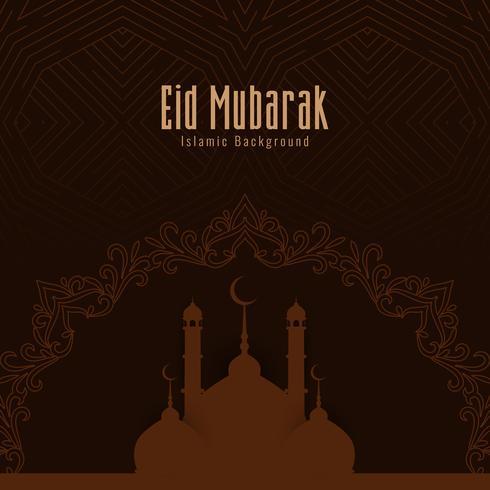 Abstrait Eid Mubarak fond de voeux islamique