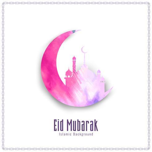 Abstrakt Eid Mubarak akvarell bakgrund illustration