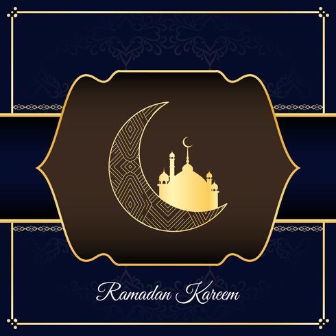 Priorità bassa religiosa alla moda astratta di Ramadan Kareem vettore