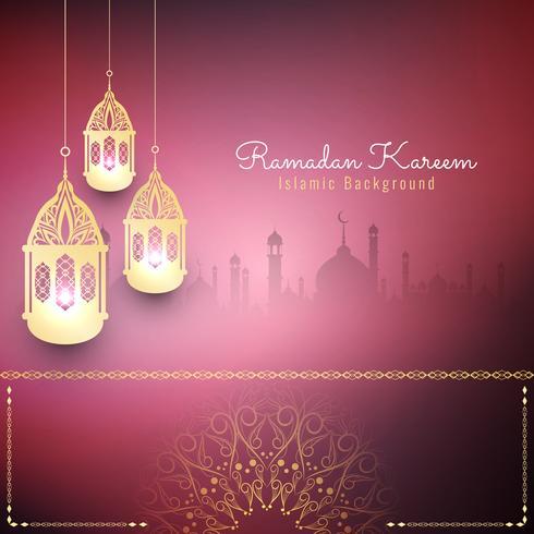 Abstrakt stilig Ramadan Kareem islamisk bakgrund