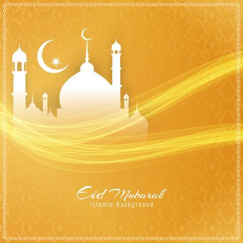 Abstrakt elegant Eid Mubarak festival bakgrundsdesign