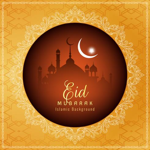 Abstrakter religiöser Hintergrund Eid Mubaraks