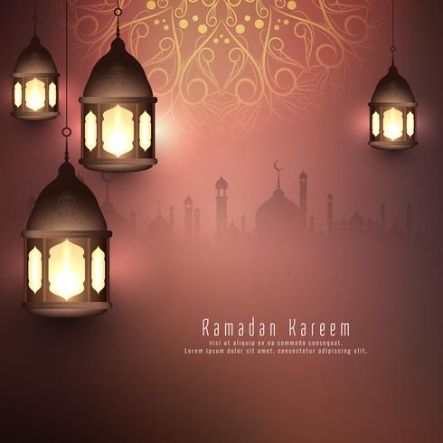 Abstrakt Ramadan Kareem islamisk bakgrund