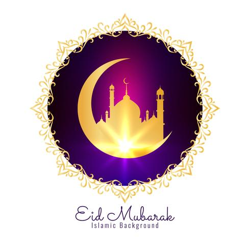 Abstrakter eleganter religiöser Hintergrund Eid Mubaraks