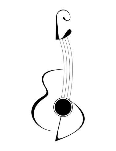 Gitarre - isolierte Vektorikone