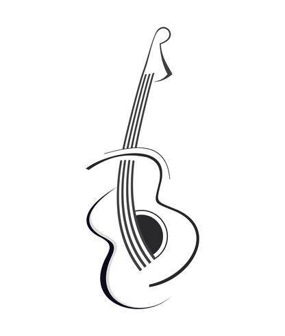 Gitaar vector pictogram