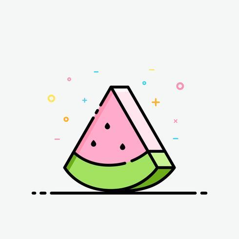 Wassermelonendias clipart Pastellfarbe in gefüllter Entwurfsart für verziert im Sommerplakat und in der Social Media-Fahne.
